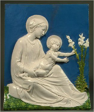 Italian Ceramics - Madonna and Child by Luca della Robbia (ca. 1475), Widener Collection - Photo credits: National Gallery of Art - USA