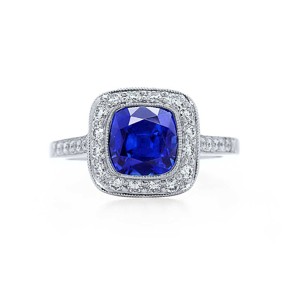 Jewelry & Watches 925 Sterling Silver Sapphire Engagement Edwardian Era Inspired Ring Size 6 Skillful Manufacture Rings