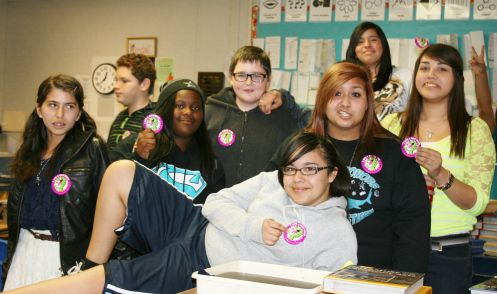 8th graders from Walter Stiern Middle School in Bakersfield, CA were  challenged to eat chocolate