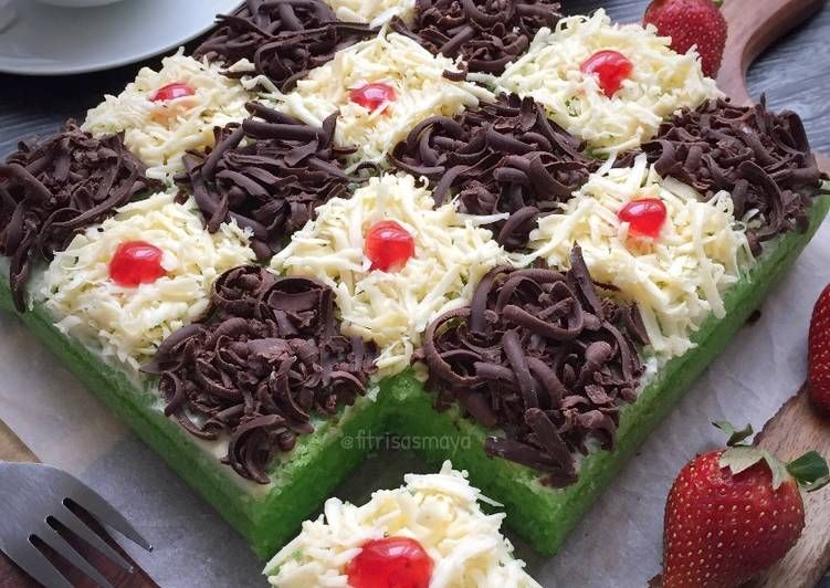 Resep Brownies Kukus Pandan Coklat Keju Oleh Fitri Sasmaya Resep Makanan Enak Resep Makanan
