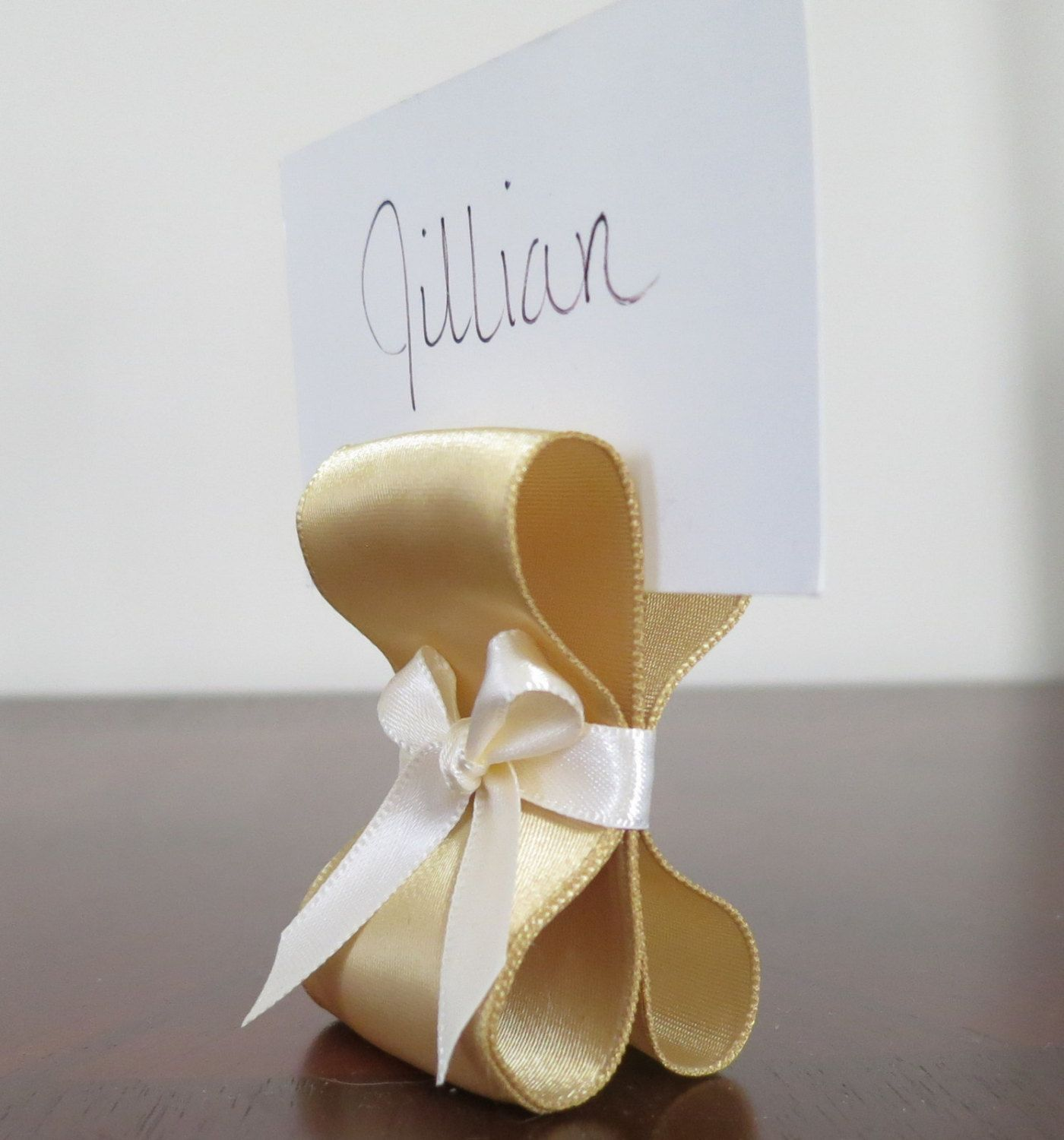 Worth 150 Description The Ribbon Place Card Holder Is Handmade