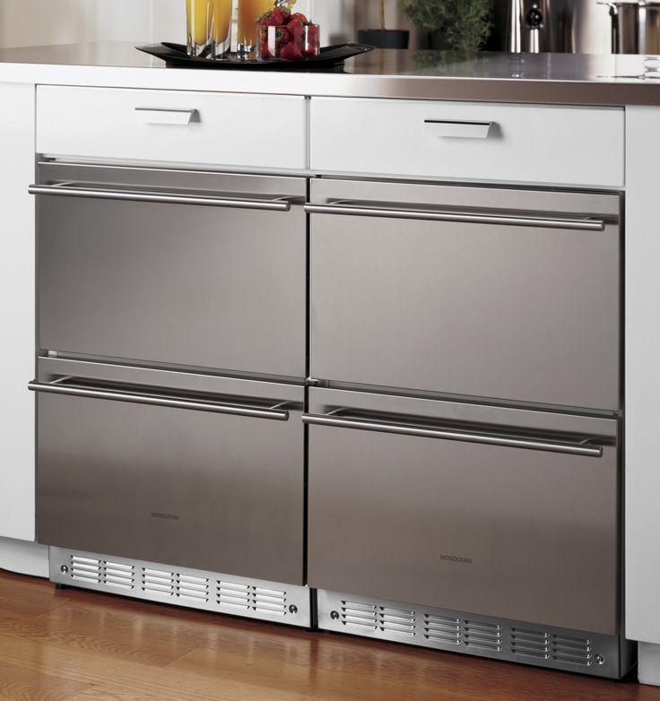 Zids240hss Monogram Double Drawer Refrigerator Module