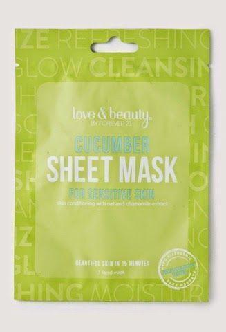 Forever 21 Cucumber Sheet Mask review my blog girltalk