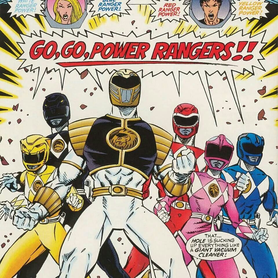 Classic Power Rangers comic art #JDF