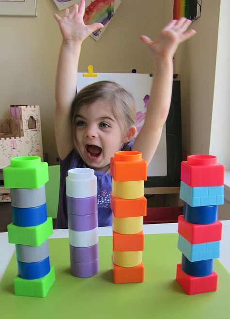 Block towers patterns for preschool *fun way to practice math skills