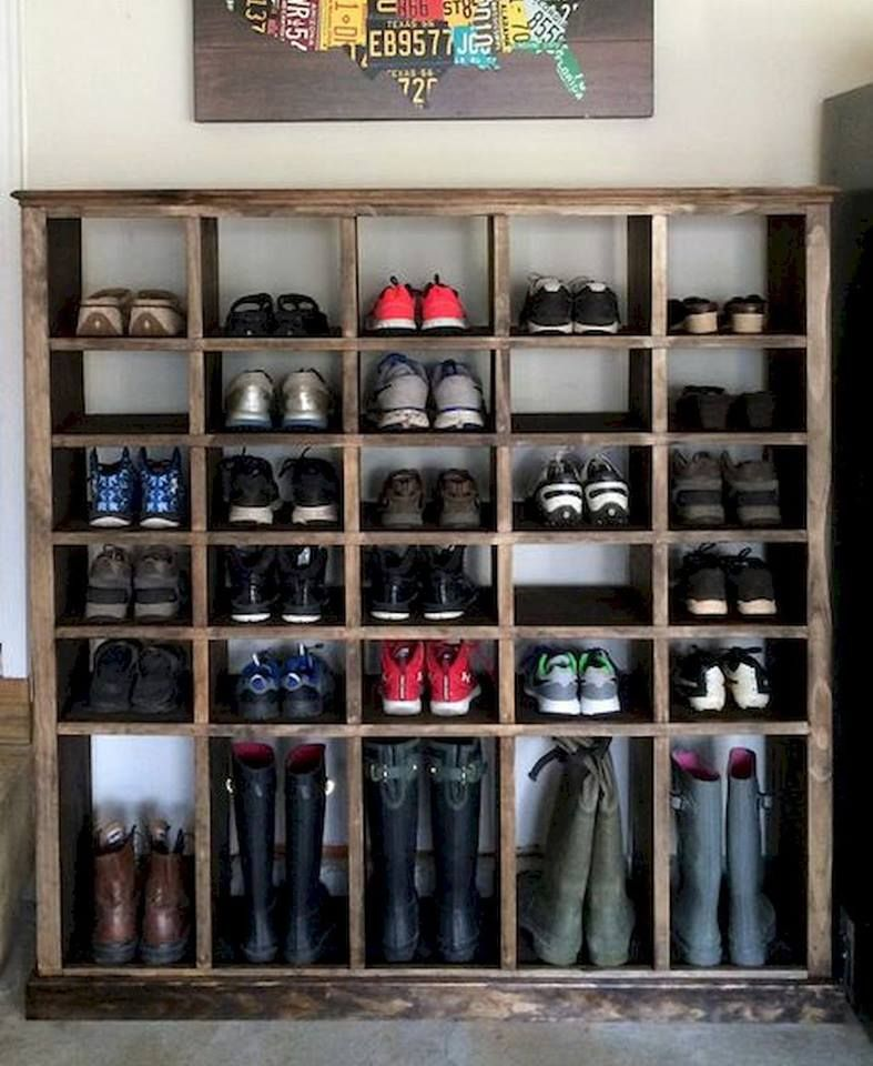 Great Idea For Big Families And Shoe Lovers Garage Shoe Rack