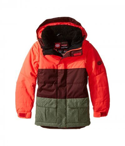 686 Kids - Polly Insulated Jacket (Big Kids) (Electric Poppy Color Block)