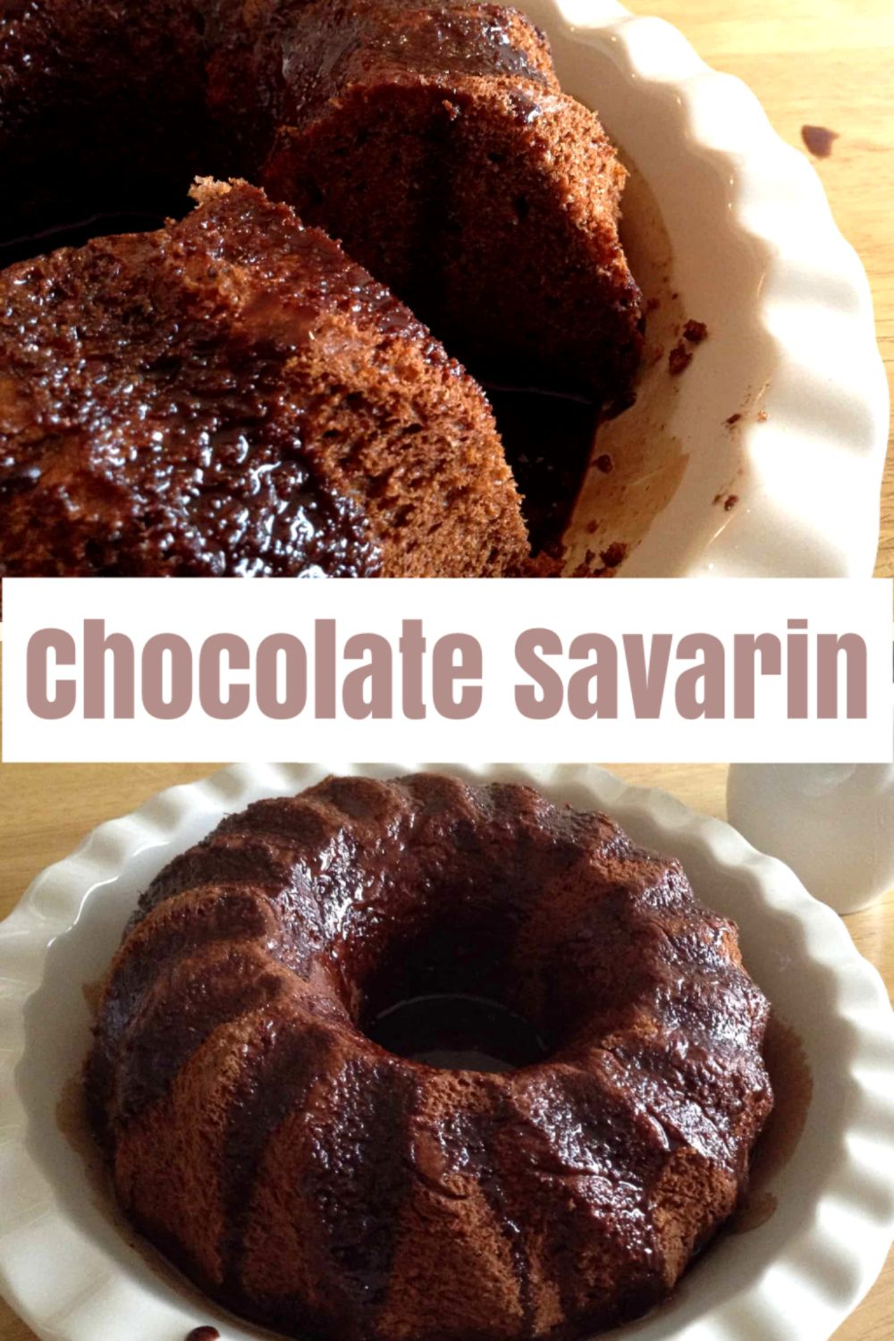 Chocolate Savarin drenched in Chocolate Syrup