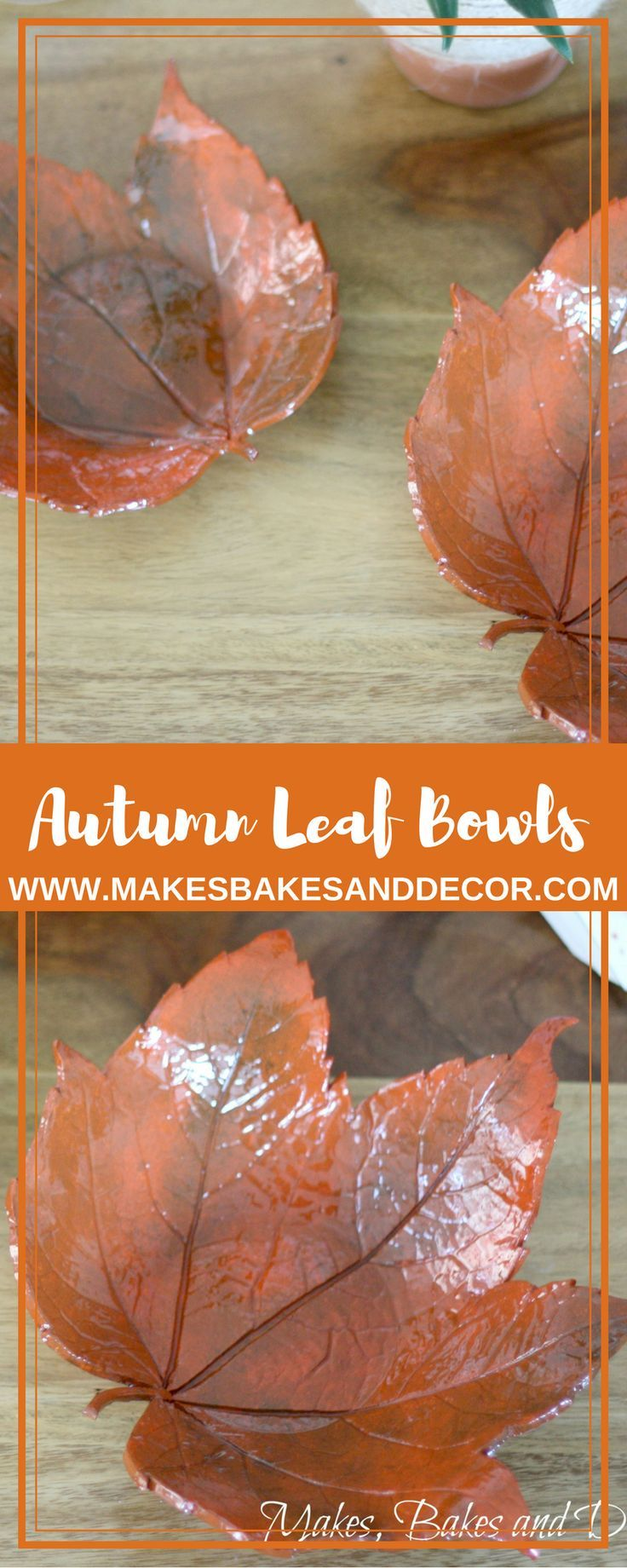 A craft tutorial to make these autumn leaf bowls. Made using fimo oven bake clay. Fimo craft project. Autumn craft. Fall DIY Ideas. Fall Decor. Fall and Autumn homewares.