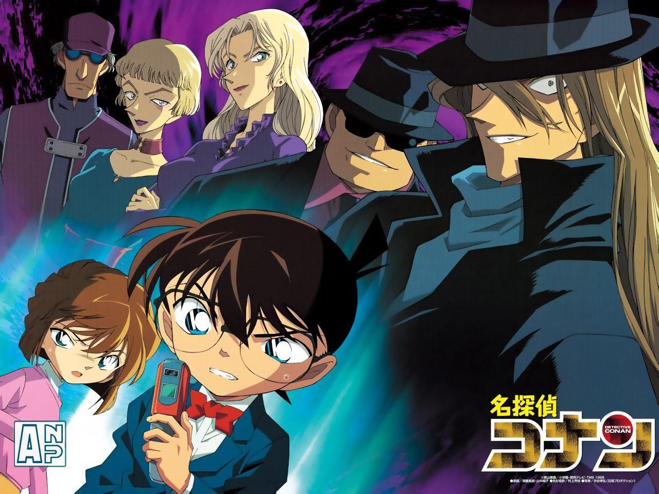 Detective Conan Black Wallpaper Floweryred2 Com