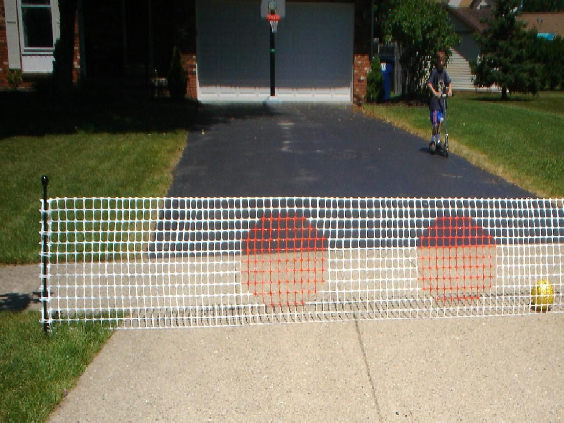 Driveway Ball Stop Safety Fence Driveway Guard By Myyellowdoor Safety Fence Backyard Trampoline Driveway Fence