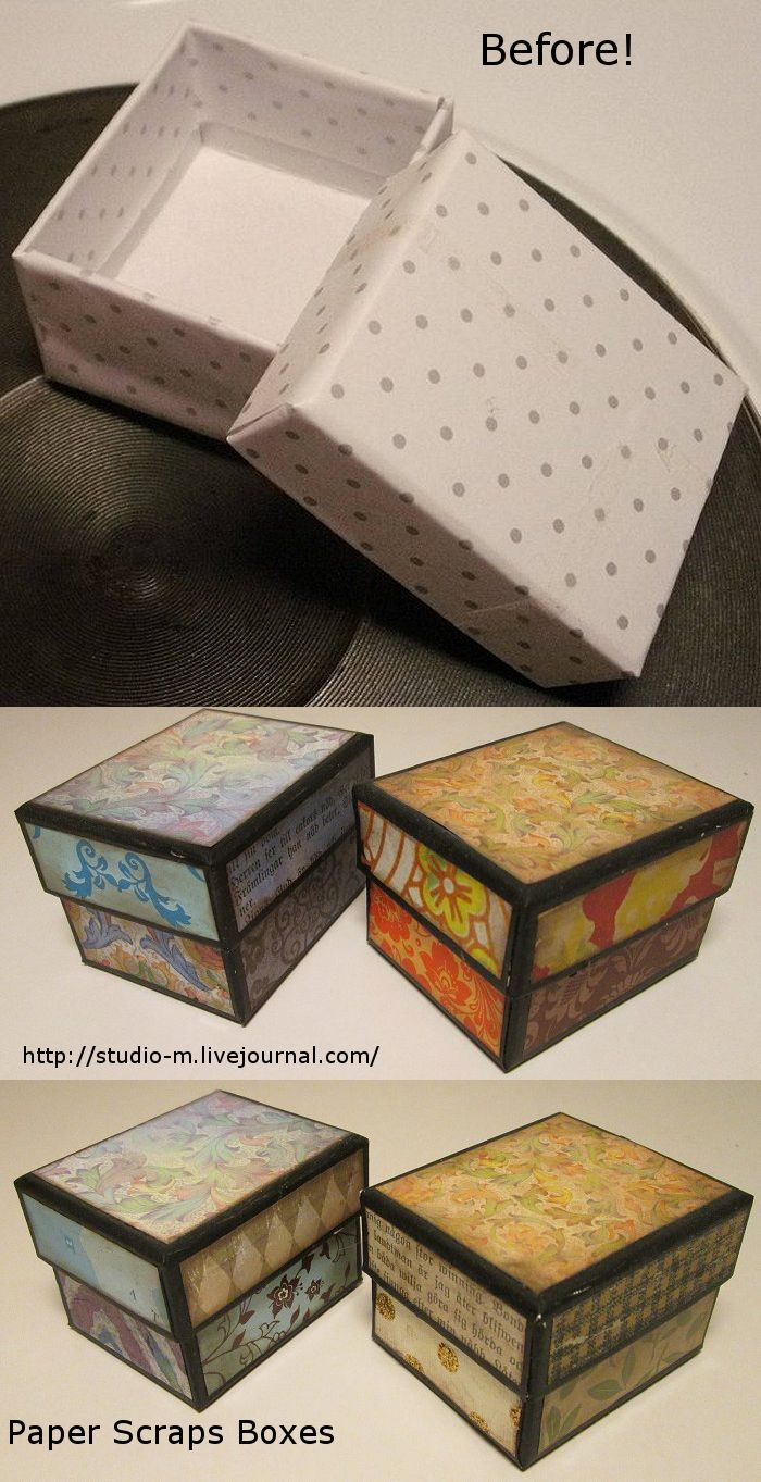 Before Two Small Cardboard Gift Boxes I Used Black Acrylic Paint