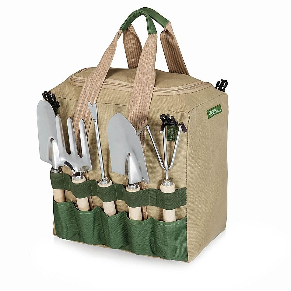 5aff23c08b083e75482c894900427620 - Picnic Time Gardener Folding Chair With Tools
