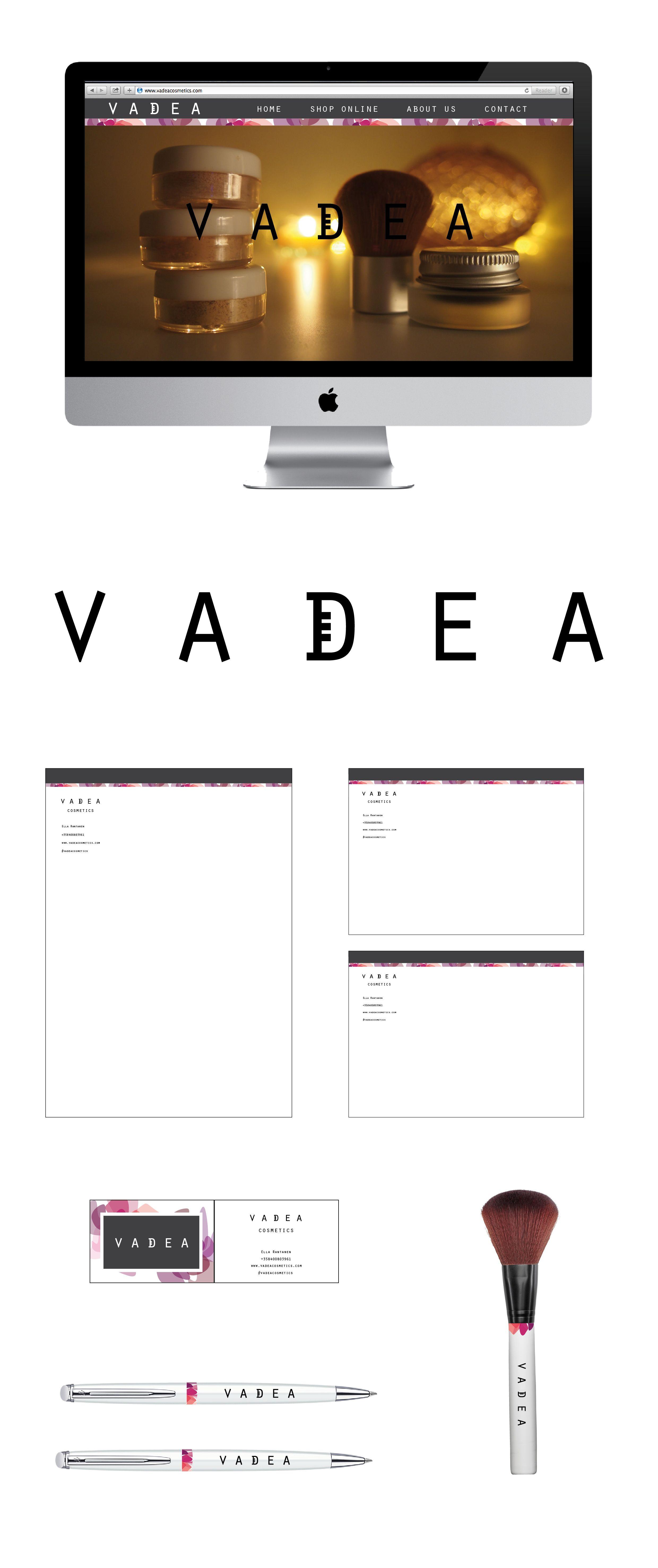 Yritysilme keksitylle kosmetiikkabrändille, Vadealle