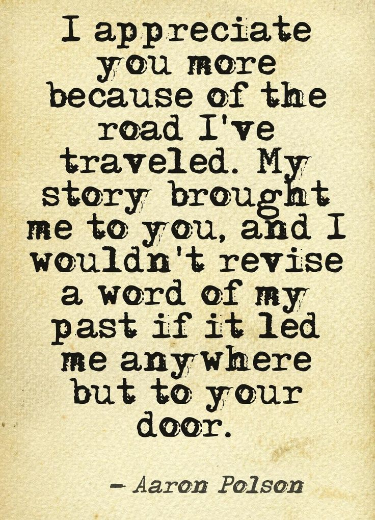 My story brought me to you