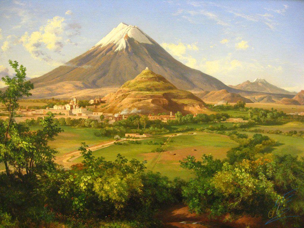 Jose Maria Velasco Popocatepetl And Iztaccihiatl Jose Maria Velasco Maria Velasco Pintor Paisajista
