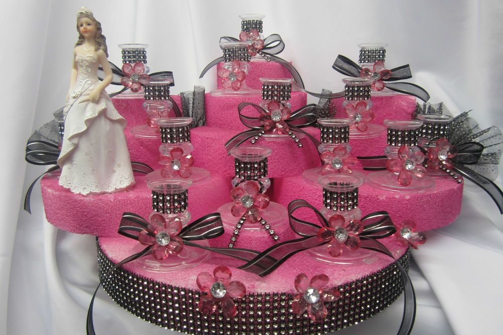 Sweet 16 Candle Holder Centerpiece Cake Decoration Paty