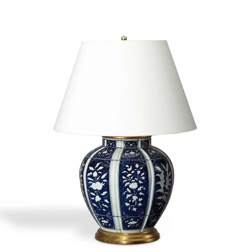 Ralph Lauren Medeleine Floral Table Lamp White Table Lamp Blue