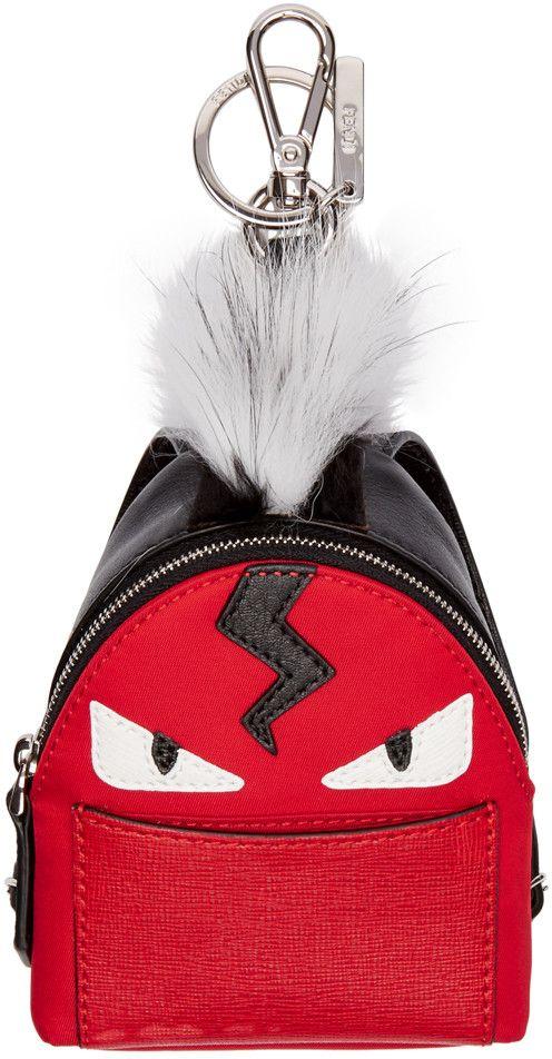 Fendi - Red Mini Backpack Keychain