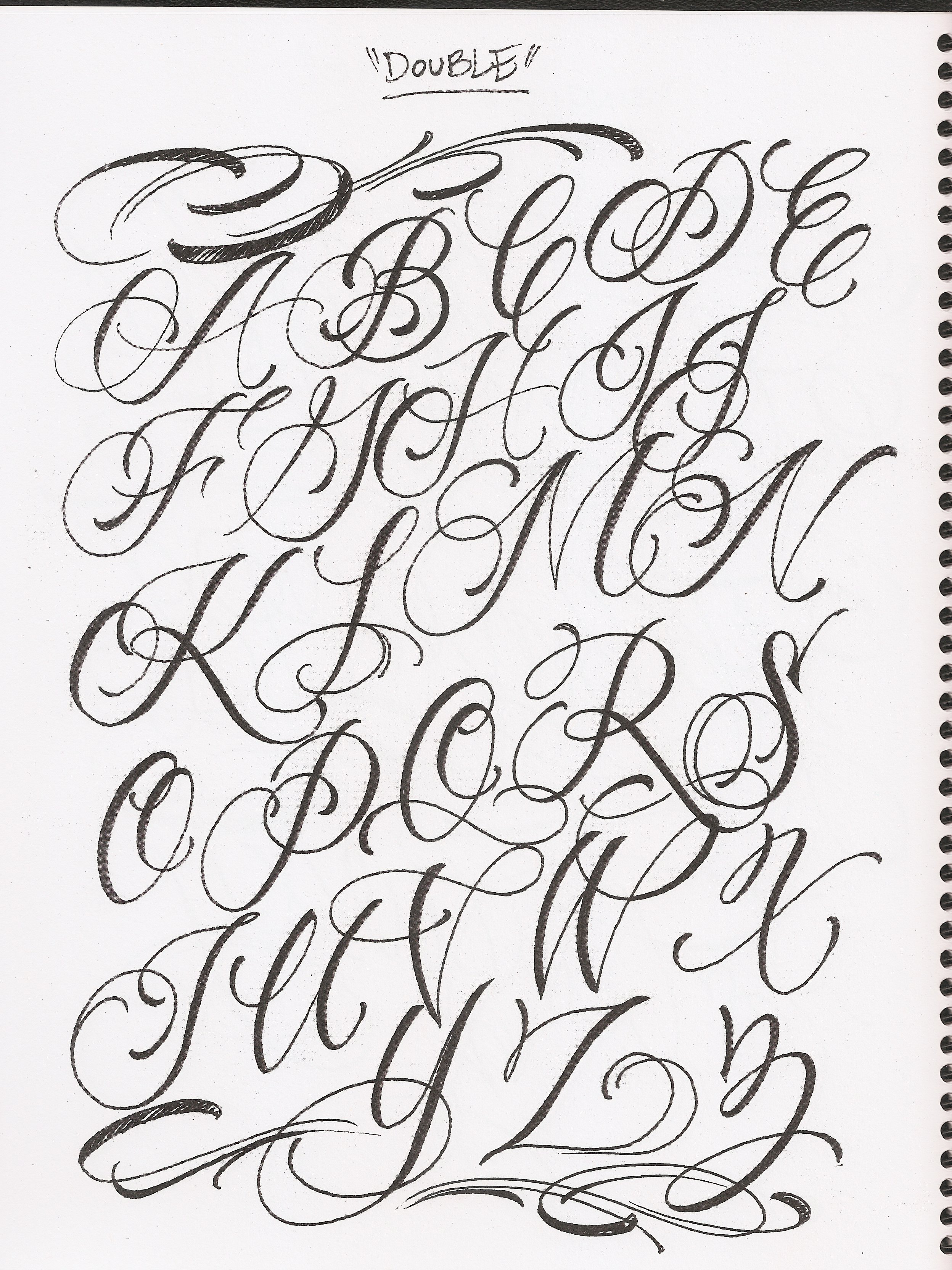 cursive letters az bj betts shop lettering 4 1172