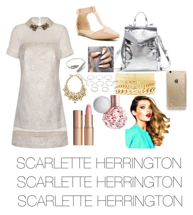 """SCARLETTE HERRINGTON"" by sierrapaysinger on Polyvore featuring Little Mistress, Kenneth Cole Reaction, Loeffler Randall, Forever 21, Charlotte Russe, Charlotte Tilbury, Rifle Paper Co and Oscar de la Renta"