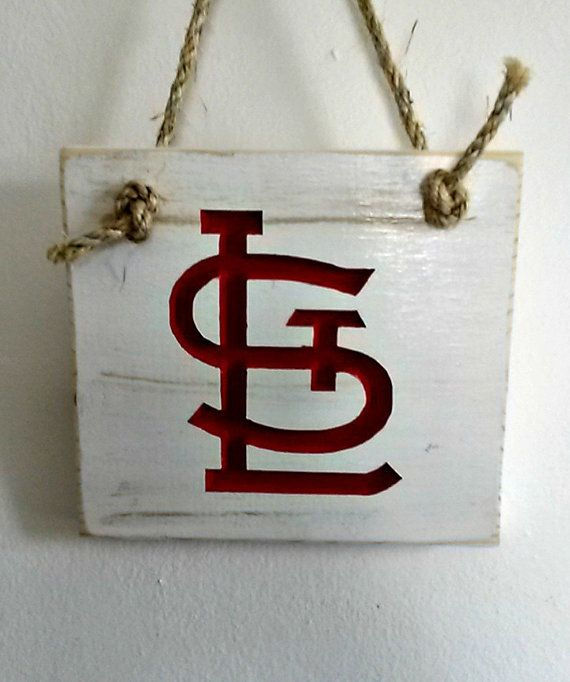 St. Louis Cardinals ~ Wood Wall Decor With Carved And Painted Emblem # Homedecor #