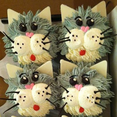 Cat Decorated Cupcakes
