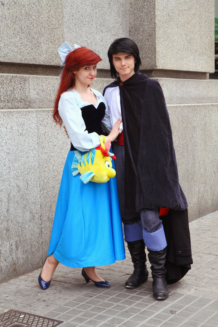 Ariel and Prince Eric Couples costumes, Cute costumes