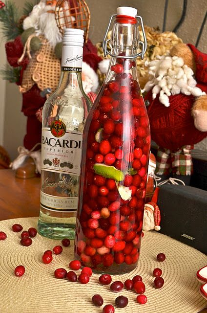 Cranberry-Lime Infused Rum, now that I can get on board with!! (awesome blog!)  ahealthyjalapeno.com