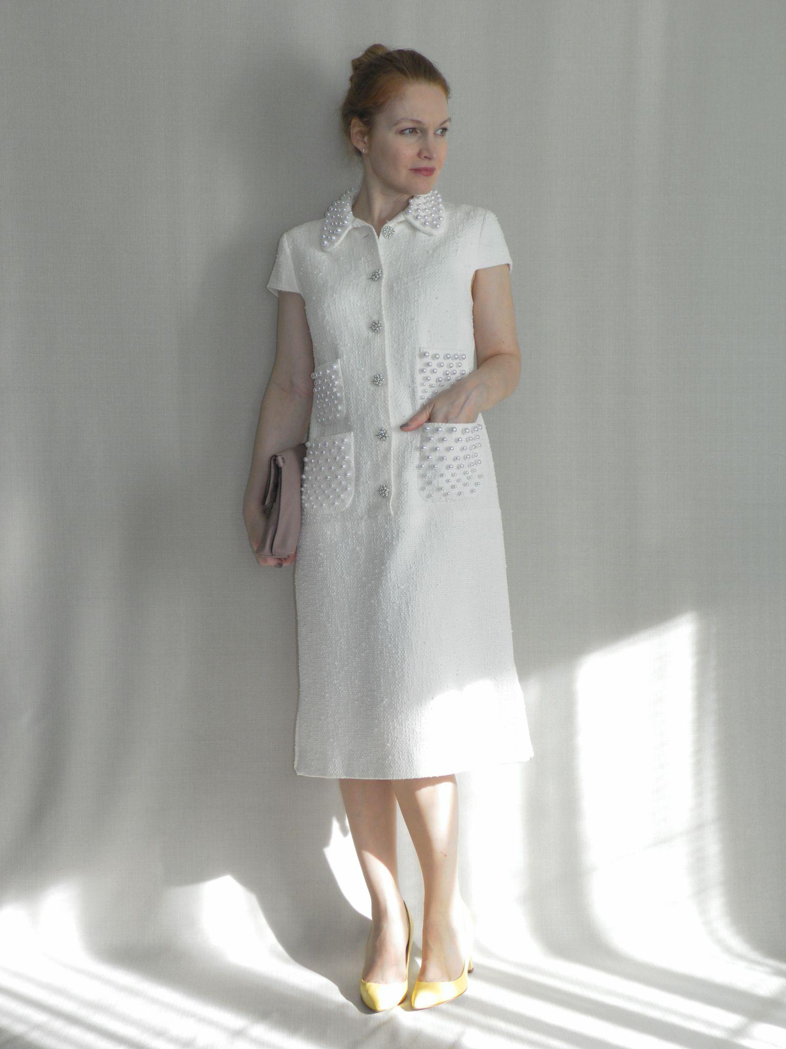 b04a1b9f70799da Платье в стиле Chanel Льняные Платья, Дневные Платья, Мода 50 Х, Модные  Платья