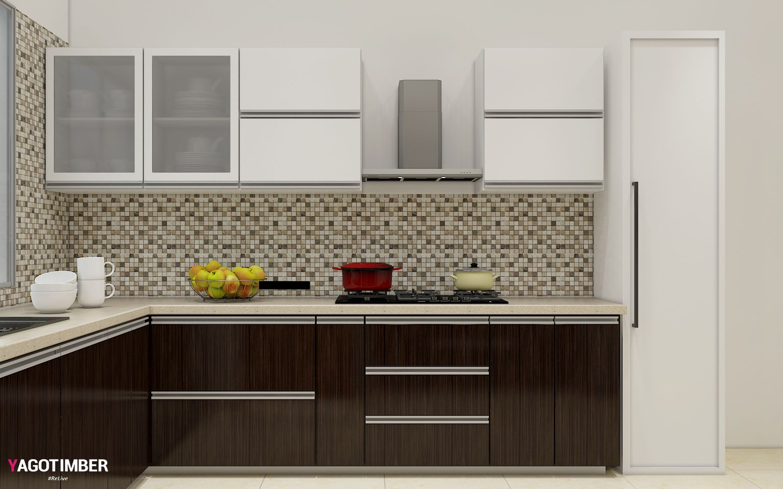The most commonly used kitchen - L Shaped Modular Kitchen in ...