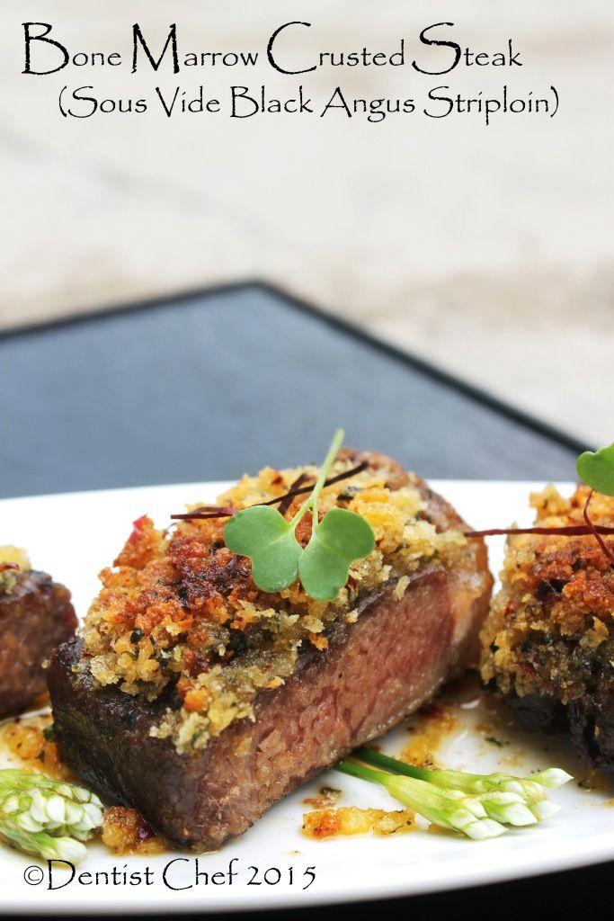Recipe Bone Marrow Crusted Steak Beef Sirloin Sous Vide Resep Makanan Resep Steak Makanan