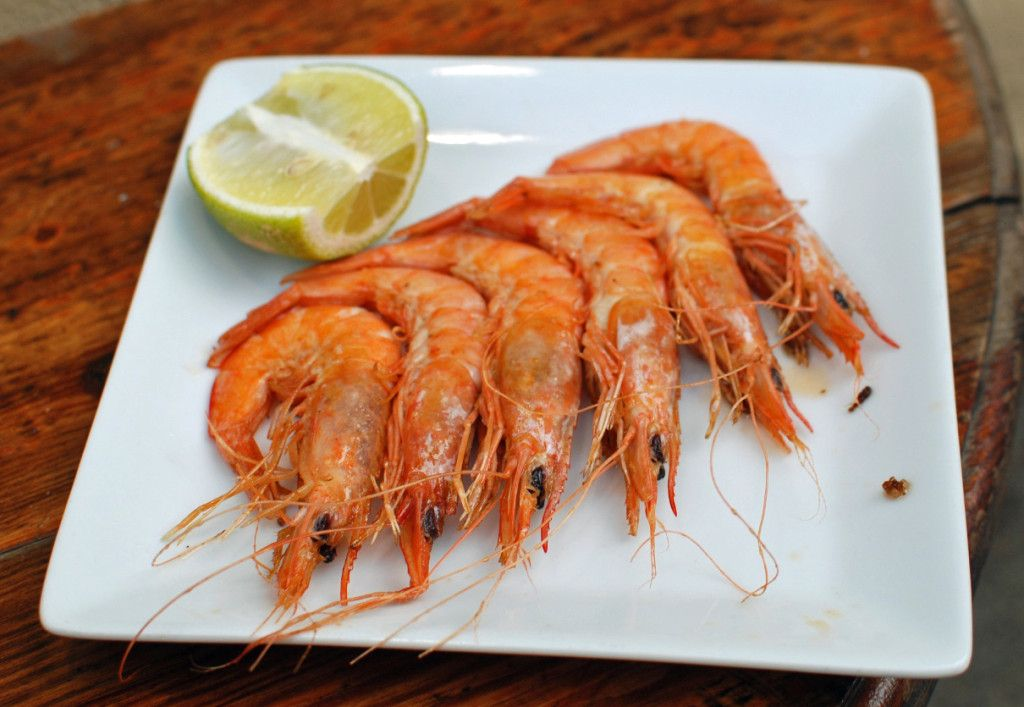 Crunchy, plump, bright red prawns in Logrono, Spain | NY Food Journal