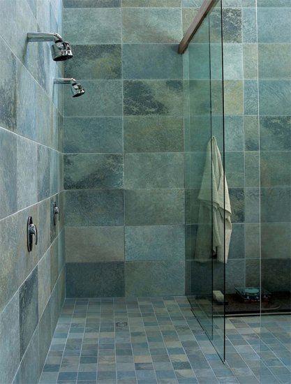 Groene tegels badkamerinspiratie in 2019 vloertegels badkamer en tegels - Piastrelle in pietra per bagno ...