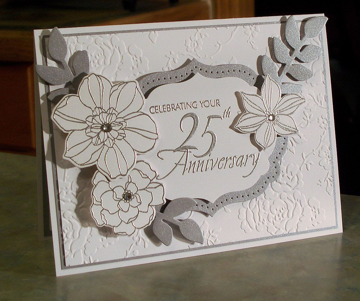 Handmade th anniversary card x stampin birthdaya
