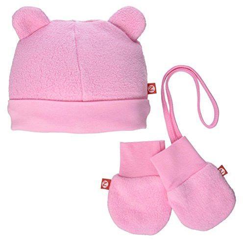 Zutano Cozie Fleece Hat Mitten Set Baby Pink 24 Months Baby Winter Mittens Mittens Baby Winter