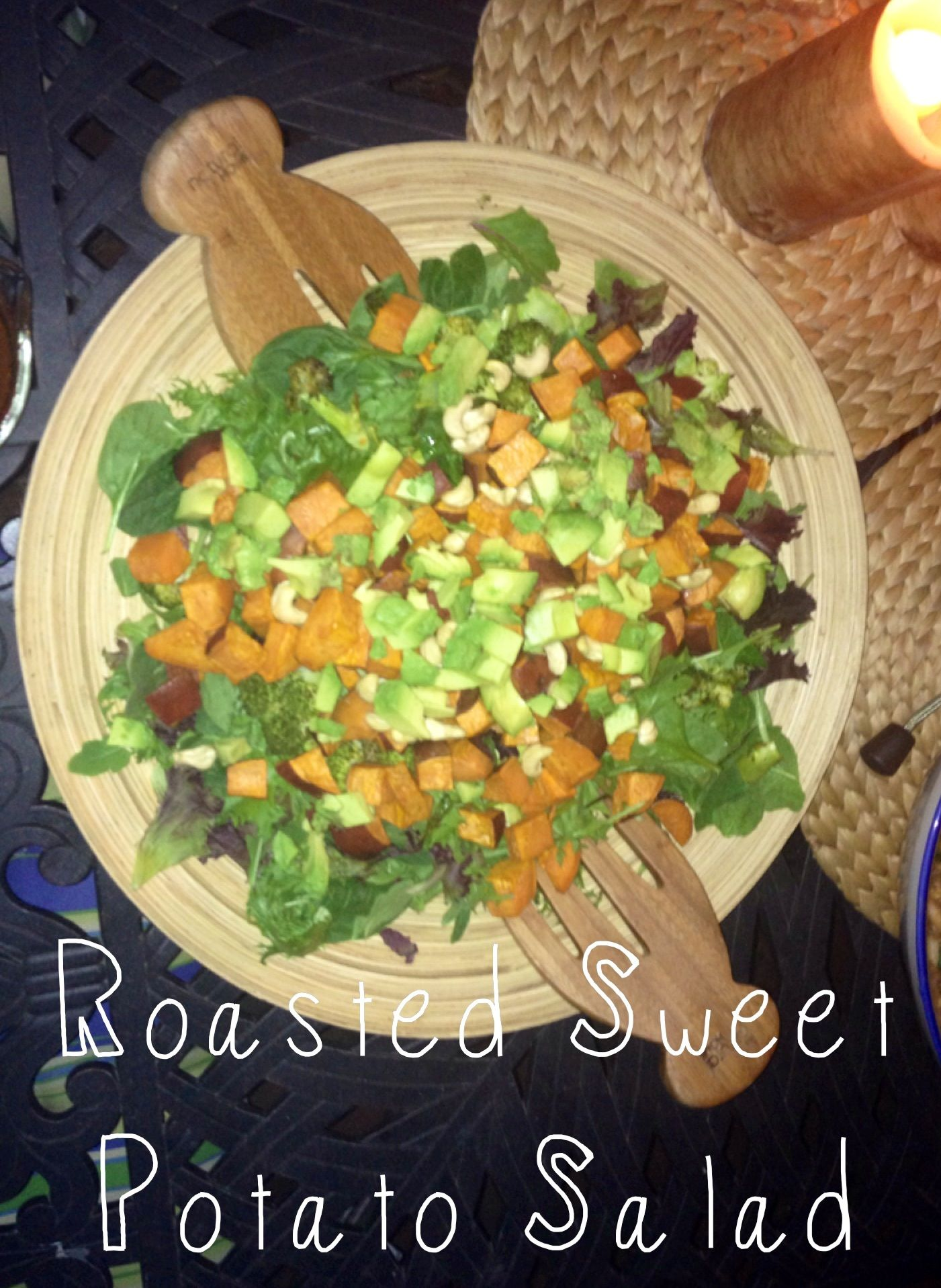Roasted Sweet Potato Salad with Miso Dressing {Healthy & Delicious, Gluten Free, Vegan. Perfect for Autumn Entertaining!}