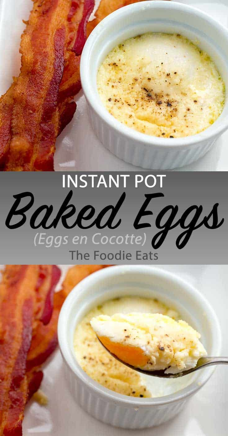 Photo of Eggs en Cocotte in the Instant Pot (French Baked Eggs) | The Foodie Eats