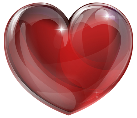 Deep Red Heart Emoticon Heart Wallpaper Colorful Heart Red Heart