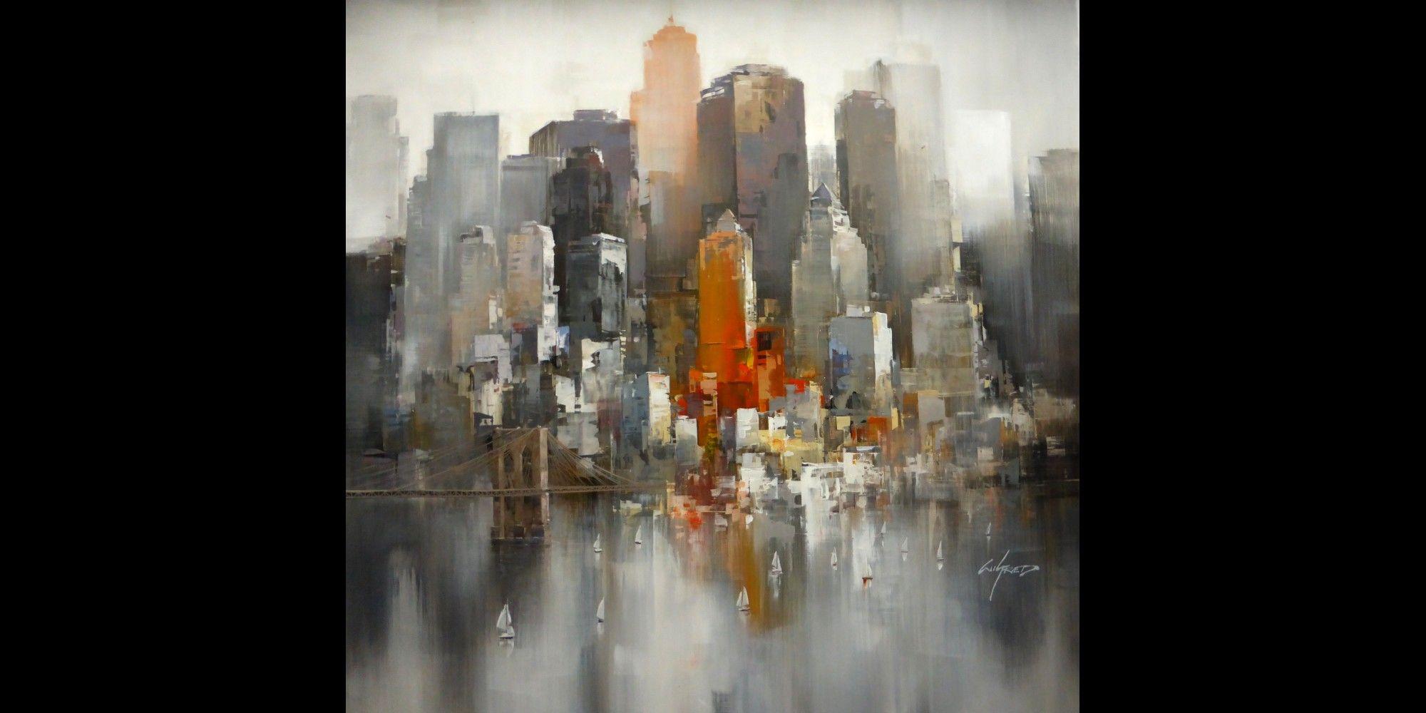1143 - Peinture de New York Wilfred - AUTOUR D\'UN CADRE ...
