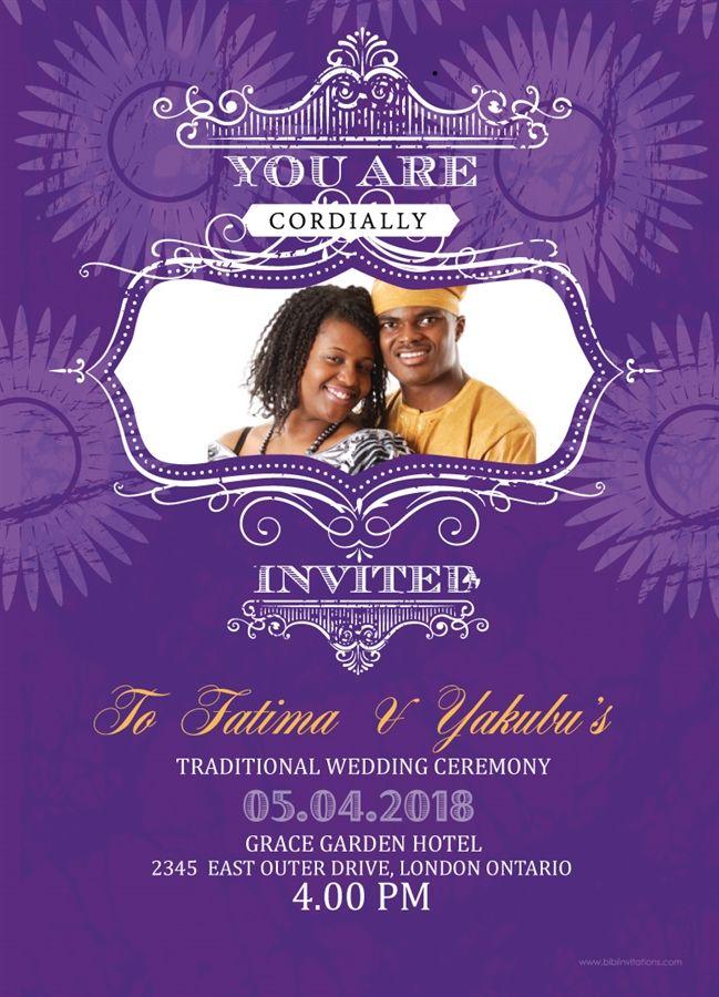 Le Of My Eye African Wedding Invitation In 2019