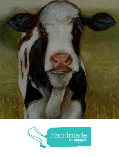 Cow Oil Painting Field Impressionism 8x10 Original Art by CES Landscape from Paintings by CES http://www.amazon.com/dp/B016V2413M/ref=hnd_sw_r_pi_dp_NArjwb14HTK70 #handmadeatamazon