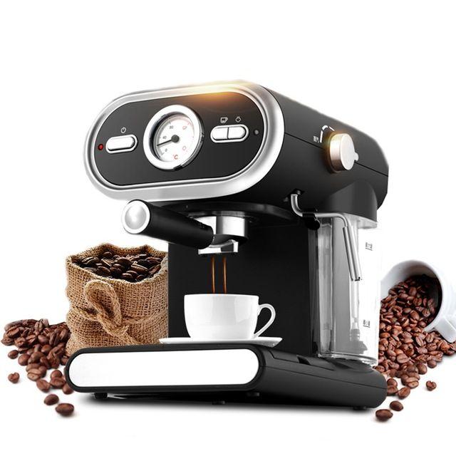 Espresso Coffee Machine Semi-automatic Coffee Maker Cappuccino Moka Milk Frother Foamer High-pressure 20BAR  Voltage:220V/50HZ Power:1000W Pressure:20bar Color:black Water Tank Capacity:1L Product size:270*223*295mm Packing size:343*278*386mm #automaticcoffeemachine