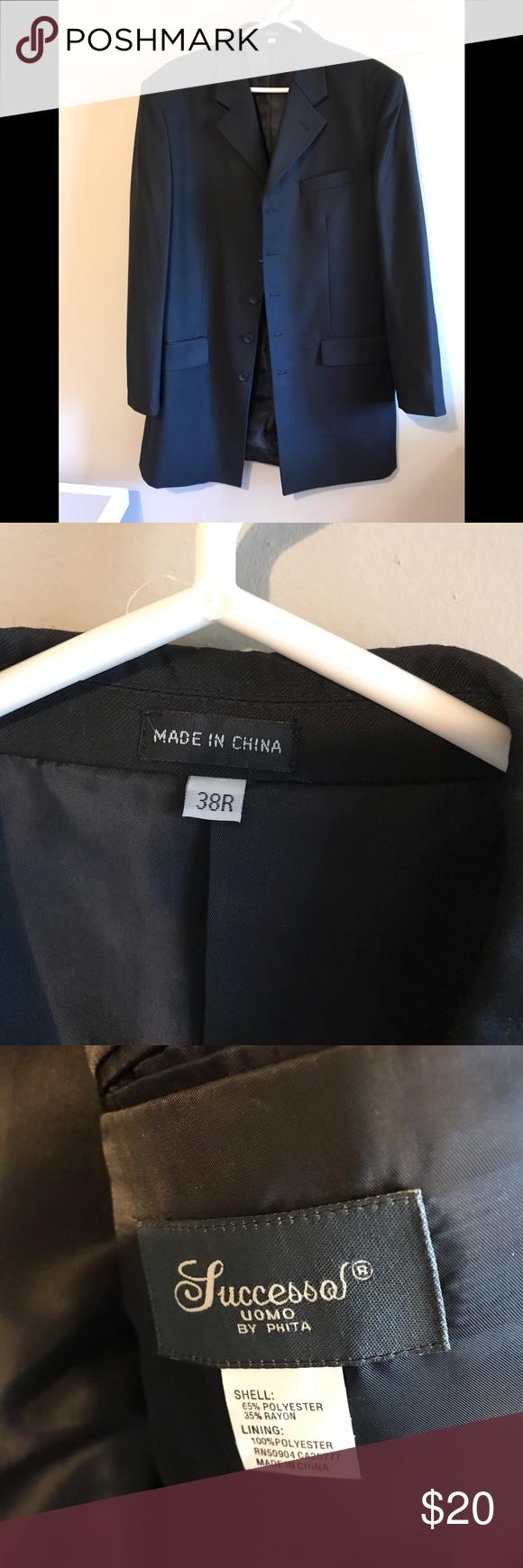Men S Successol Black Dress Jacket Black Dress Jacket Jacket Dress Jackets [ 1740 x 580 Pixel ]