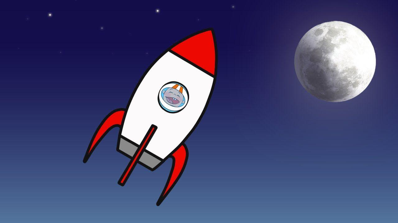 Мультик Раскраска для малышей. Ракета. Полет в космос ...