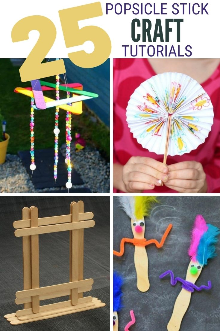 Photo of 25 Easy Stick Popsicle Crafts for Kids | Crafty Blog Stalker