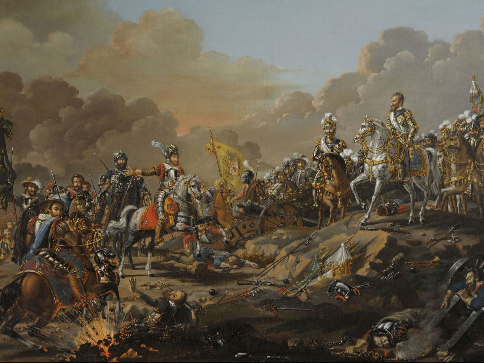 King Henri Iv Triumphant At The Battle Of Ivry French War Of Religions War Art Modern Artwork Painting