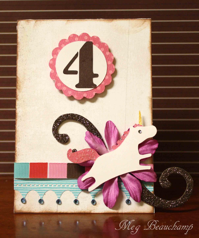 4 Year Old Girl Birthday Card Birthday