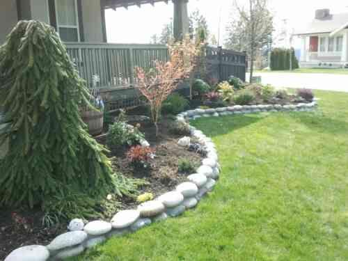 Id e de bordure de jardin en pierre c t jardin pinterest bordure de ja - Idee de bordure de jardin ...