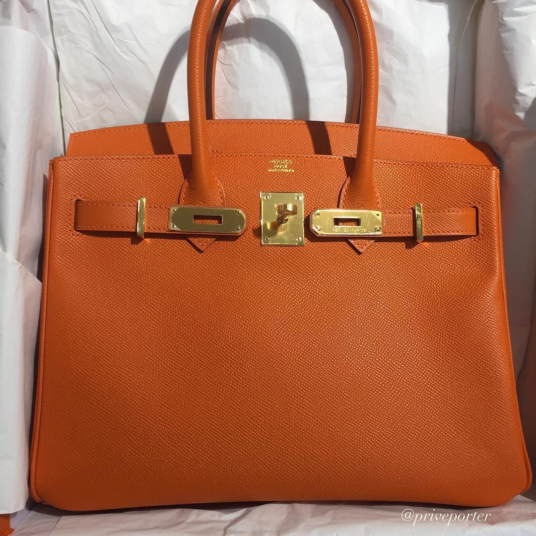 Hermes orange birkin 30cm gold hardware